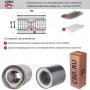 Пламегаситель 10015052d с перфорированным диффузором, из Нерж.стали. CBD. PLIN123